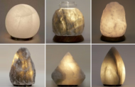 Picture of White and Grey Salt Lamps